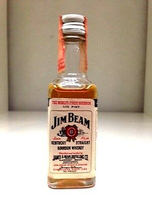 Jim Beam White Label 1970's Miniature Kentucky Straight Bourbon