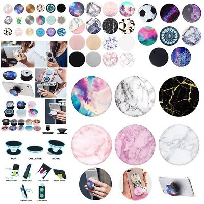 UK Popsocket in iPhone Colors FREE CLIP INCLUDED Granite Marble Print Stand Grip