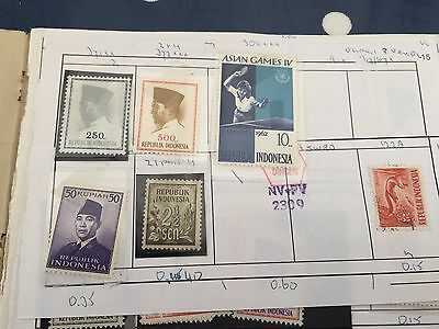 Indonesia  approval booklet with stamps high remaining sales value