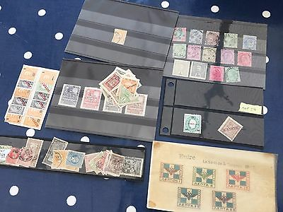Fiume India Portuguese colonies & Greece Hermes head  stamps on cards