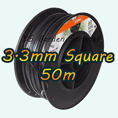 50m of Genuine STIHL 3.3mm SQUARE Brushcutter Strimmer Trimmer Cord Line Wire