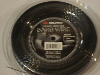 Solinco Barb Wire 200m Reel 16L/1.25mm Tennis String-Authorised Seller