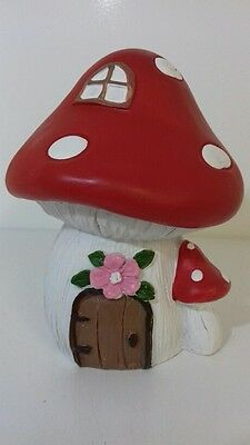 Fairy Toadstool Money Box New