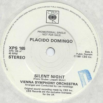 "Placido Domingo - Silent Night - Promo - 7"" Single"