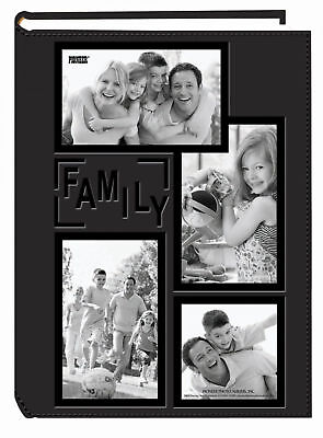 "Family Photo Album Pioneer 4x6"" 300 Photos Frame Embossed Sewn Leatherette Cover"
