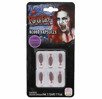 Zac's Alter Ego® 6 Blood Capsules - Perfect for Halloween