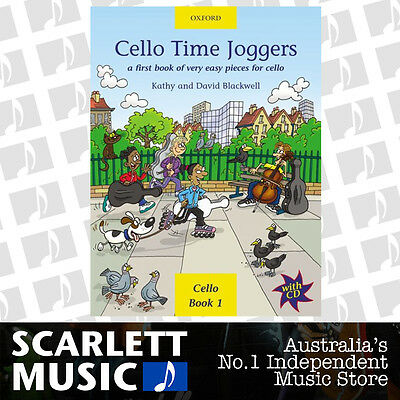 Cello Time Joggers (Level 1) Book & CD *NEW* Blackwell First Sheet Music Lesson