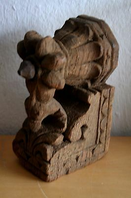Antique Element Of Architecture Carved Wood Rajastan India - Console
