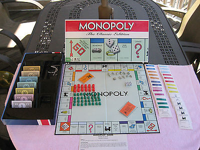 "Monopoly ""The Classic Edition"" By Hasbro 2009~# 1126~Complete!"