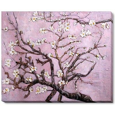 """overstockArt """"Branches of an Almond Tree in Blossom"""" Framed Oil Painting by"""