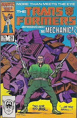 The Transformers #26 Marvel 1987 Intro Of The Mechanic