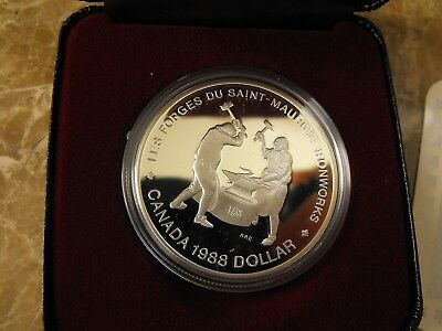 Canada Silver Proof Dollar - Ironworks 1988