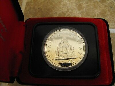 Canada Silver Proof Like Dollar - Parliament Library 1976
