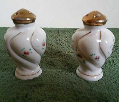 Collectible Vintage Salt and Pepper Shakers Made in Japan Handpainted w Floral
