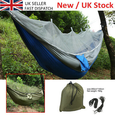 Portable Jungle Parachute Fabric Hammock Bed With Mosquito Net Bushcraft 3 Color