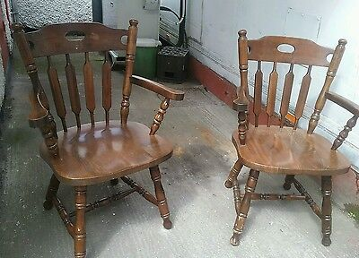 2 x  Antique  carver  chairs