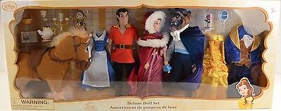 Disney Store Beauty and the Beast Deluxe Doll Set