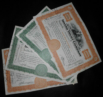 OLD MIXED STOCK CERTIFICATES -- From the 1920s, 30s and 40s
