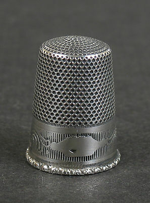 Solid silver thimble. Unknown maker