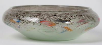 Vasart shallow bowl with inverted rim and swirls