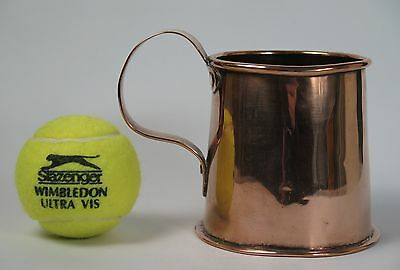 Copper beer tankard 3/4 pint c1820
