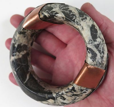 Burkina Faso Mali Sahara Sahel stone currency bangle. Provenance