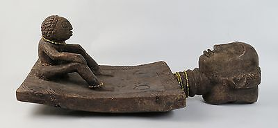 Early African tribal art Congo Luba 'Lukasa' memory/ancestor board
