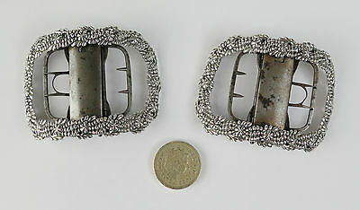 Georgian silver buckles London SC (Samuel Cooke) London 1806.