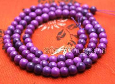 4mm purple Round natural sugilite Loose Beads strand 15'' jewelry making-los763