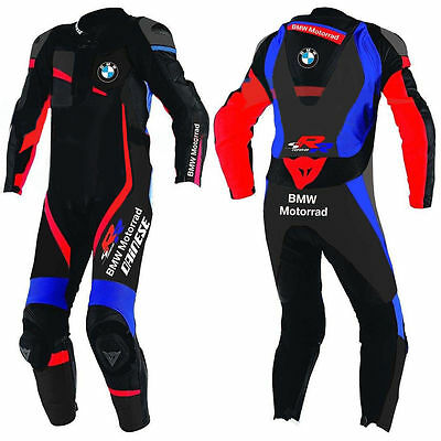 BMW Motor Bike Racing Leather Suit Cowhide Leather one piece leathers 2-PC suit