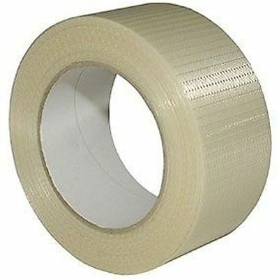 6 x ROLLS 50mm x 50m Crossweave Reinforced Tape