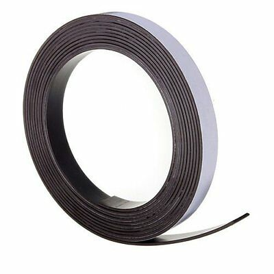 1M of Self Adhesive Flexible Magnetic Tape Magnet Strip Craft Fridge 12.5mm #165