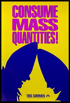 Original 1993 CONEHEADS Advance Movie Poster 27x40 DS NOT REPRODUCTION