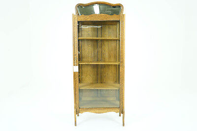 Antique China Cabinet | Vintage Display Cabinet | American Oak, 1920 | B785