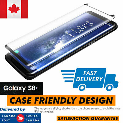 Case Friendly Samsung Galaxy S8, Plus Full Cover Tempered Glass Screen Protector