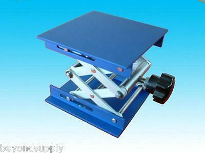 "lab aluminium oxide Lab Jack 8""(20cm)x8""(20cm)Scissor Stand lifting table new"