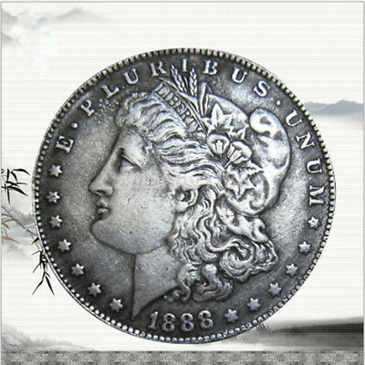 USA United States Morgan Dollar $1 1888 Silver Coin Collection Antique Dollar AU