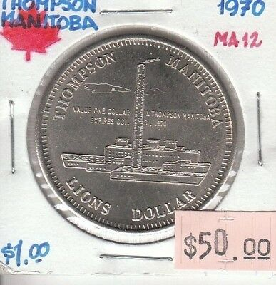 Thompson Manitoba Canada - Trade Dollar - 1970