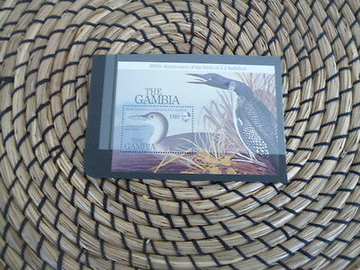 The Gambia 1985 200th Anniversary  of birth of J.J.Audubon    mnh mini sheet