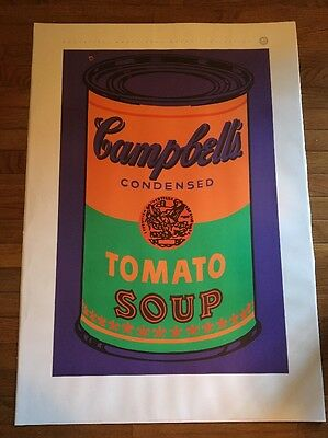 Andy Warhol poster Campbell Tomato soup can certified poster Nouvelles Images