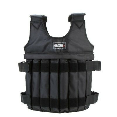 Yosoo Max Loading 50kg Adjustable Weighted Vest Weight Jacket Exercise Boxing Tr