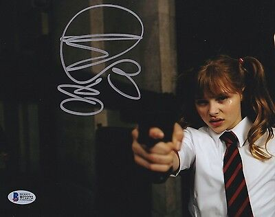 Chloe Moretz Signed 8X10 Photo Kick-Ass Hit Girl Beckett Bas Autograph Auto C