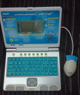 VTech Learning Laptop toy computer Childrens Kids V Tech *FOR PARTS* Game Blue