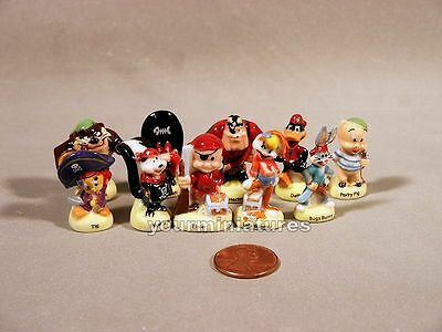 Looney Tunes Pirates 1 inch Porcelain Miniatures French Feves