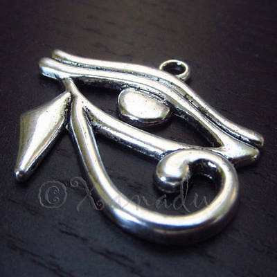 Eye of Horus 33mm Antiqued Silver Plated Egyptian Pendants C0070 - 5, 10, 20PCs