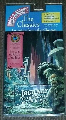 JOURNEY to the CENTER of the EARTH Hooked on Phonics Collectible Book Cassette