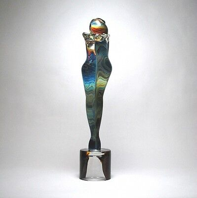 """Unique GENUINE MURANO Glass  """"LOVERS"""" Sculpture Signed by Artist"""