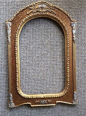 Very Ornate Vintage  Timber And Plaster Picture /photo Frame