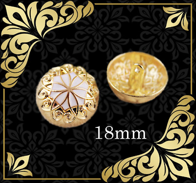 Set 8 pieces Metal Gold Shield Snake Sewing buttons diameter 20mm.