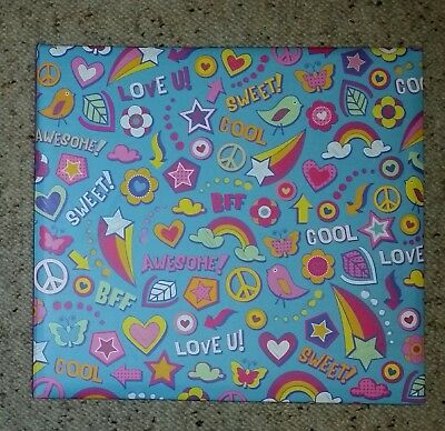 12x12 Post Bound Scrapbooking Album, Multicoloured Print, 10 Pages, New